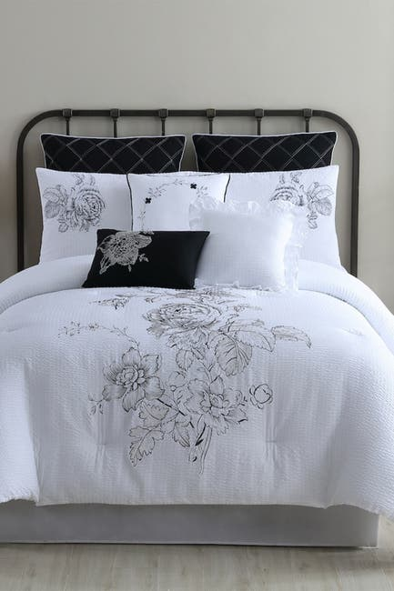 Image of Modern Threads 8-Piece Fashion Comforter Set - Cascading Floral - Queen
