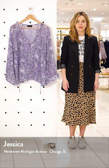 Acadia Paisley Print Silk Blouse, sales video thumbnail