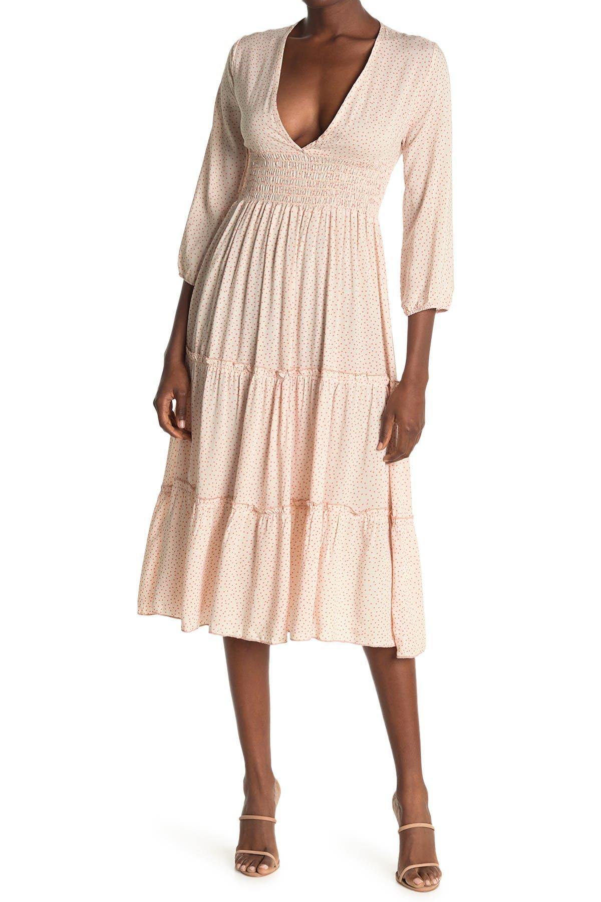 Image of Velvet Torch Smock Waist Maxi Dress