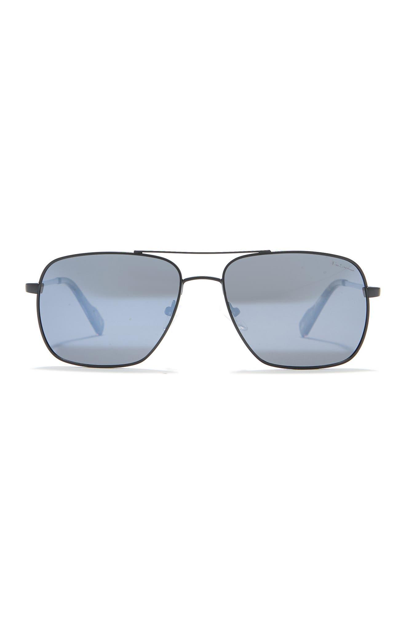 Image of Ben Sherman Stephen 58mm Aviator Sunglasses
