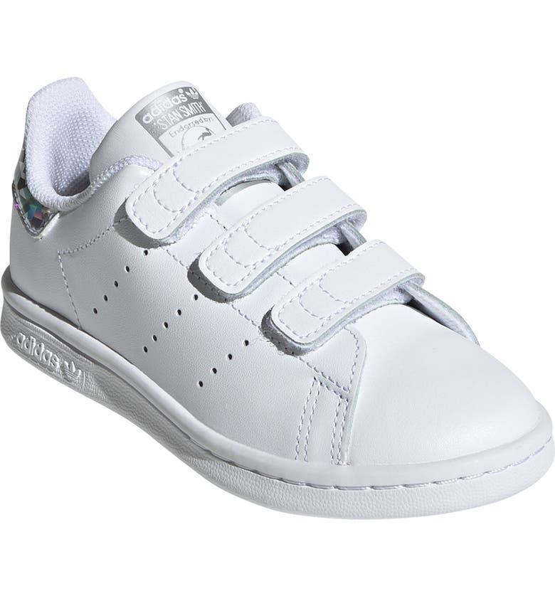 ADIDAS 'Stan Smith' Sneaker, Main, color, WHITE/ WHITE/ CORE BLACK