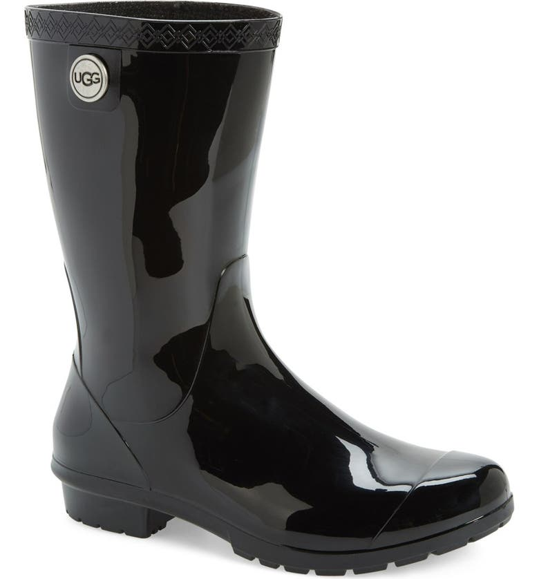 UGG<SUP>®</SUP> Sienna Rain Boot, Main, color, BLACK