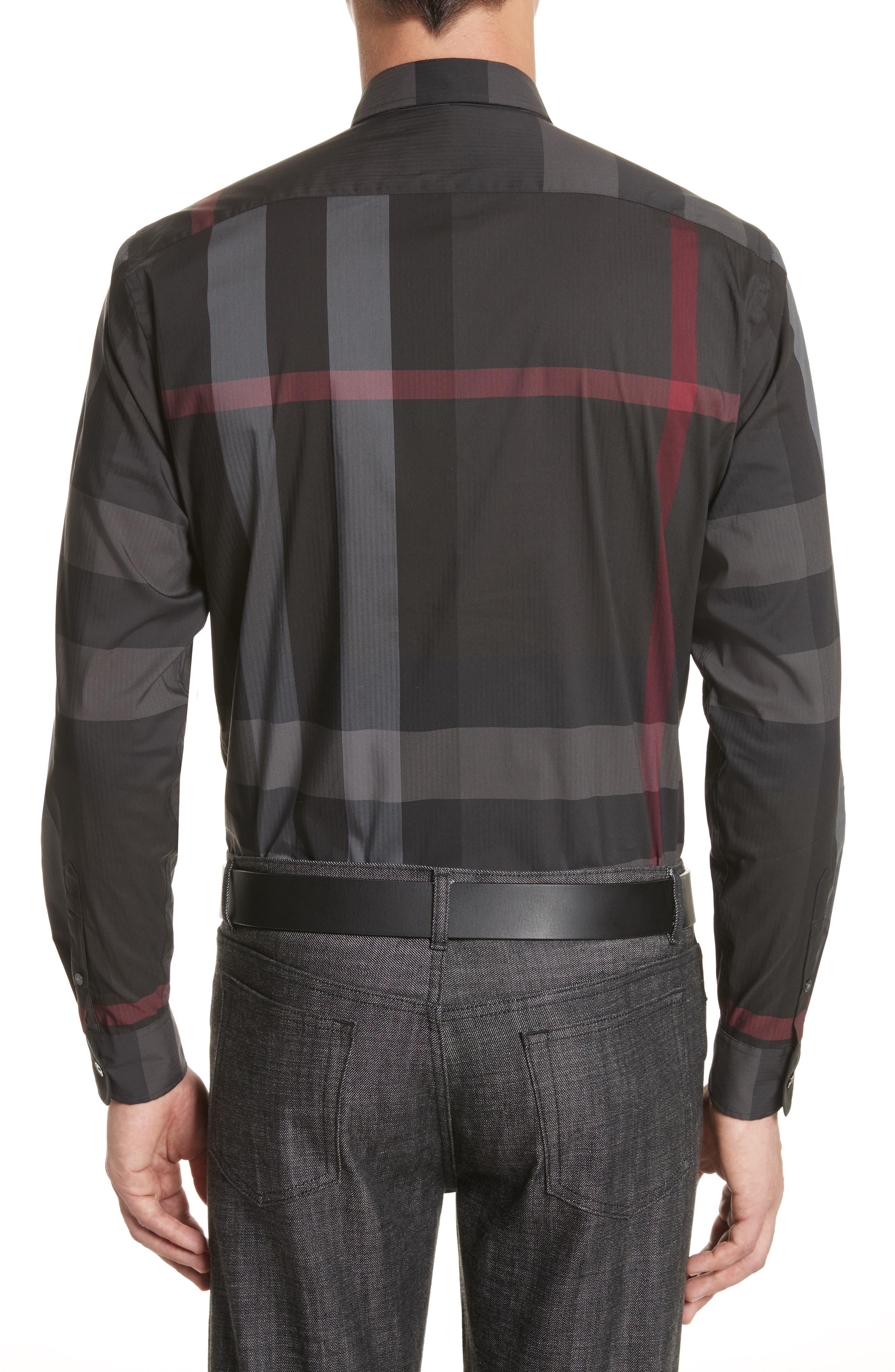 ,                             Thornaby Slim Fit Plaid Sport Shirt,                             Alternate thumbnail 3, color,                             026