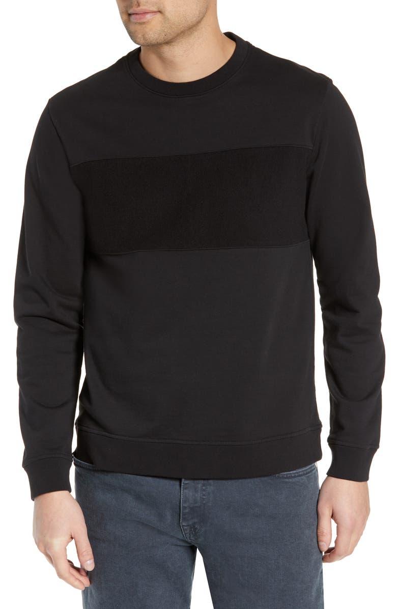 BLDWN Jens Chest Stripe Sweatshirt, Main, color, 001
