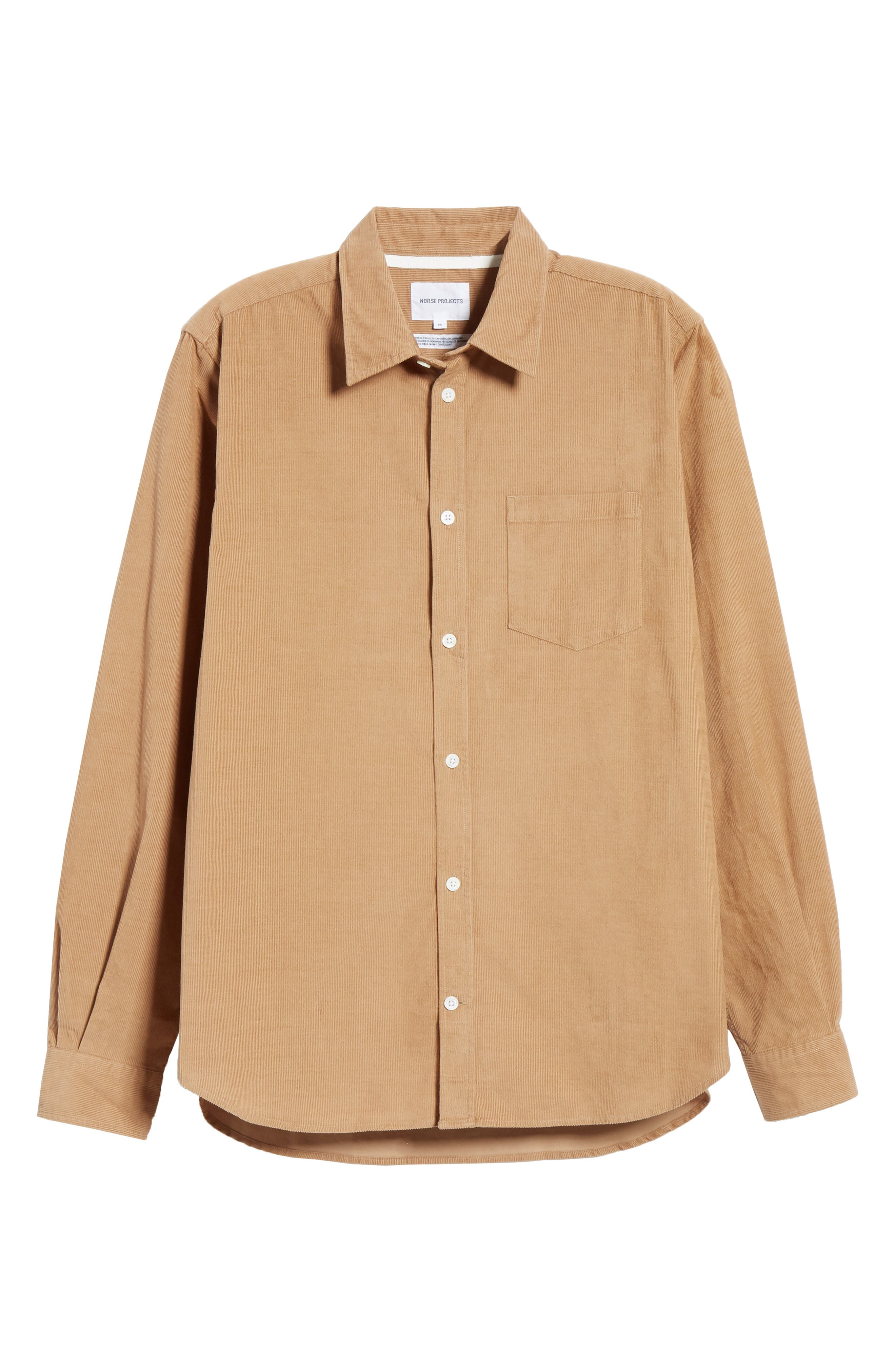 ,                             Osvald Corduroy Shirt,                             Alternate thumbnail 6, color,                             UTILITY KHAKI