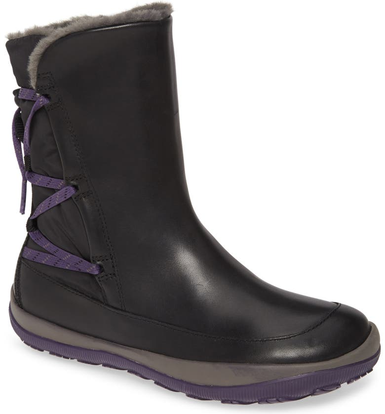 CAMPER Peu Pista Gore-Tex<sup>®</sup> Waterproof Bootie, Main, color, BLACK LEATHER