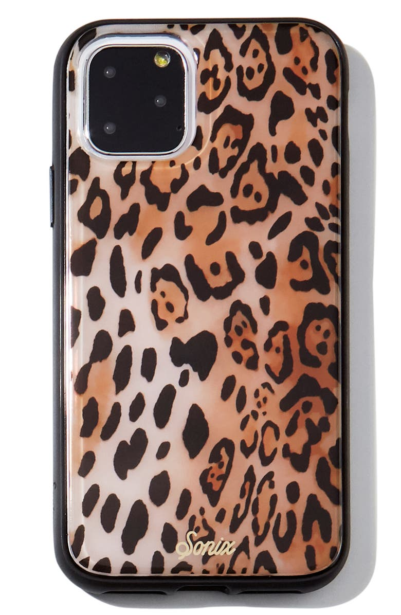SONIX Leopard iPhone 11, 11 Pro & 11 Pro Max Case, Main, color, BLACK/ BROWN