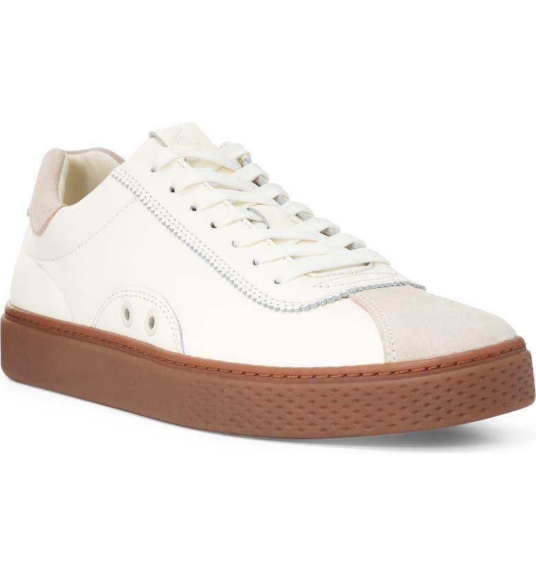 POLO RALPH LAUREN Court 100 LUX Sneaker, Main, color, EGRET LEATHER