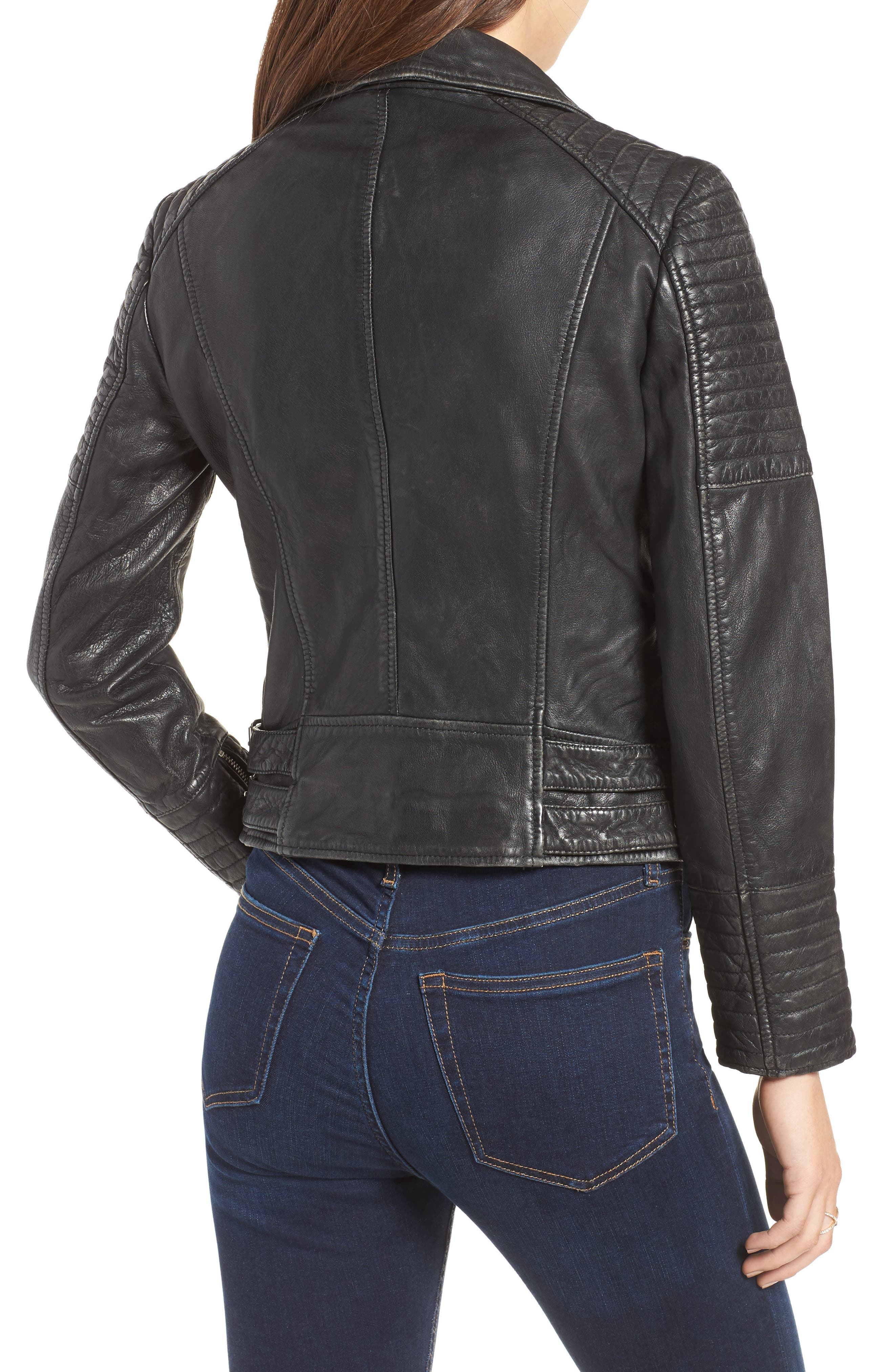 ,                             Elton Quilted Leather Jacket,                             Alternate thumbnail 2, color,                             001
