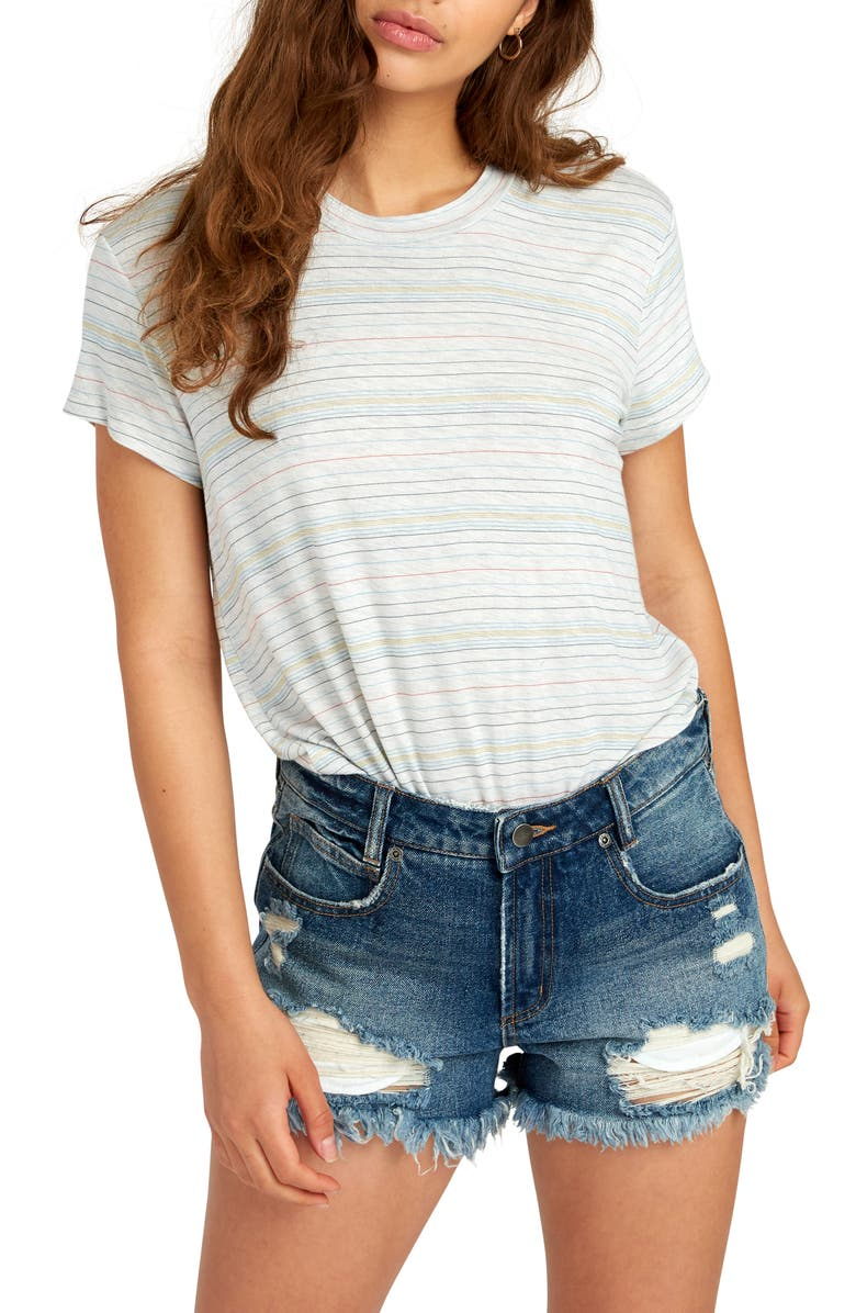 RVCA Recess Stripe Tee, Main, color, 025