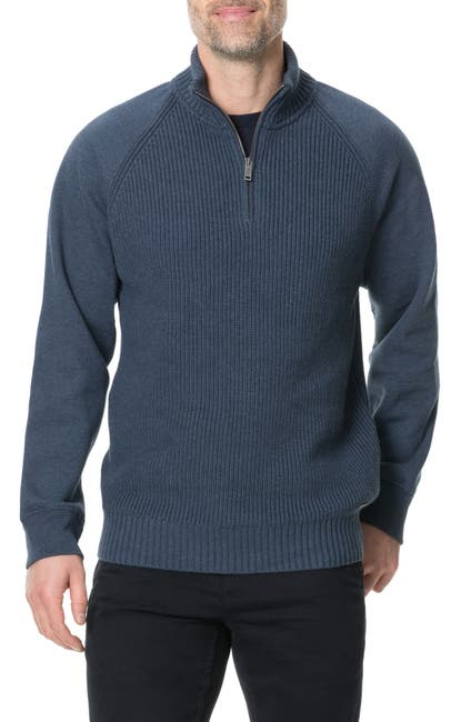 Image of RODD AND GUNN Rabbit Island Raglan Quarter Zip Pullover