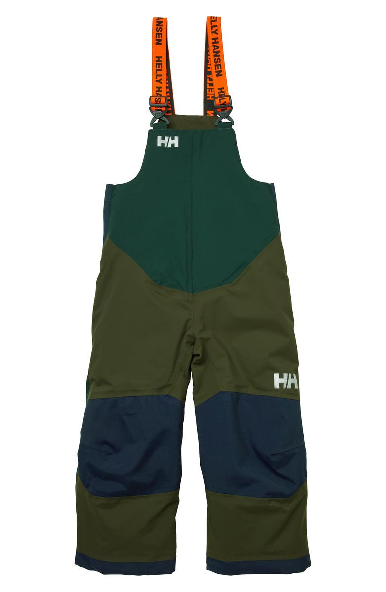 HELLY HANSEN Rider Insulated Bib Snow Pants, Main, color, FOREST NIGHT
