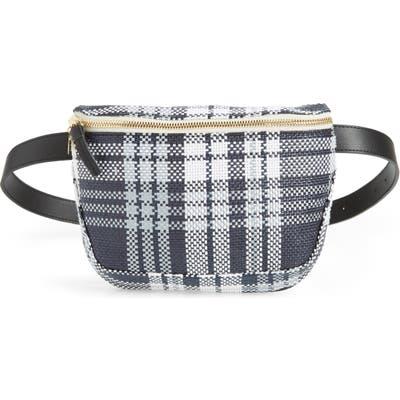 Clare V. Plaid Belt Bag - Blue