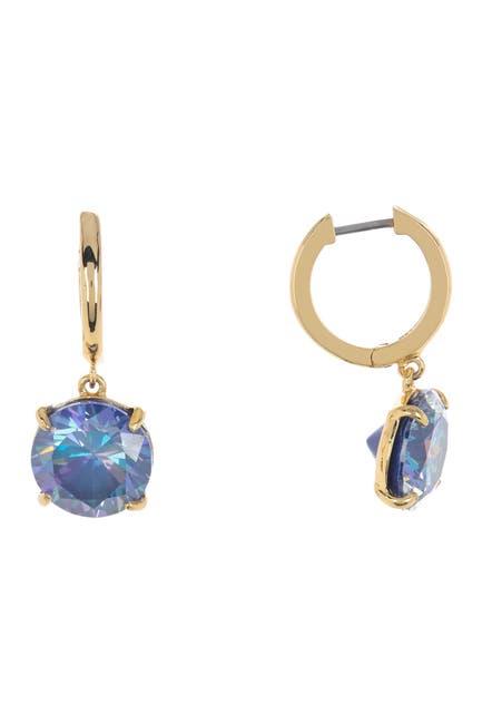 Image of kate spade new york round cz huggie hoop earrings