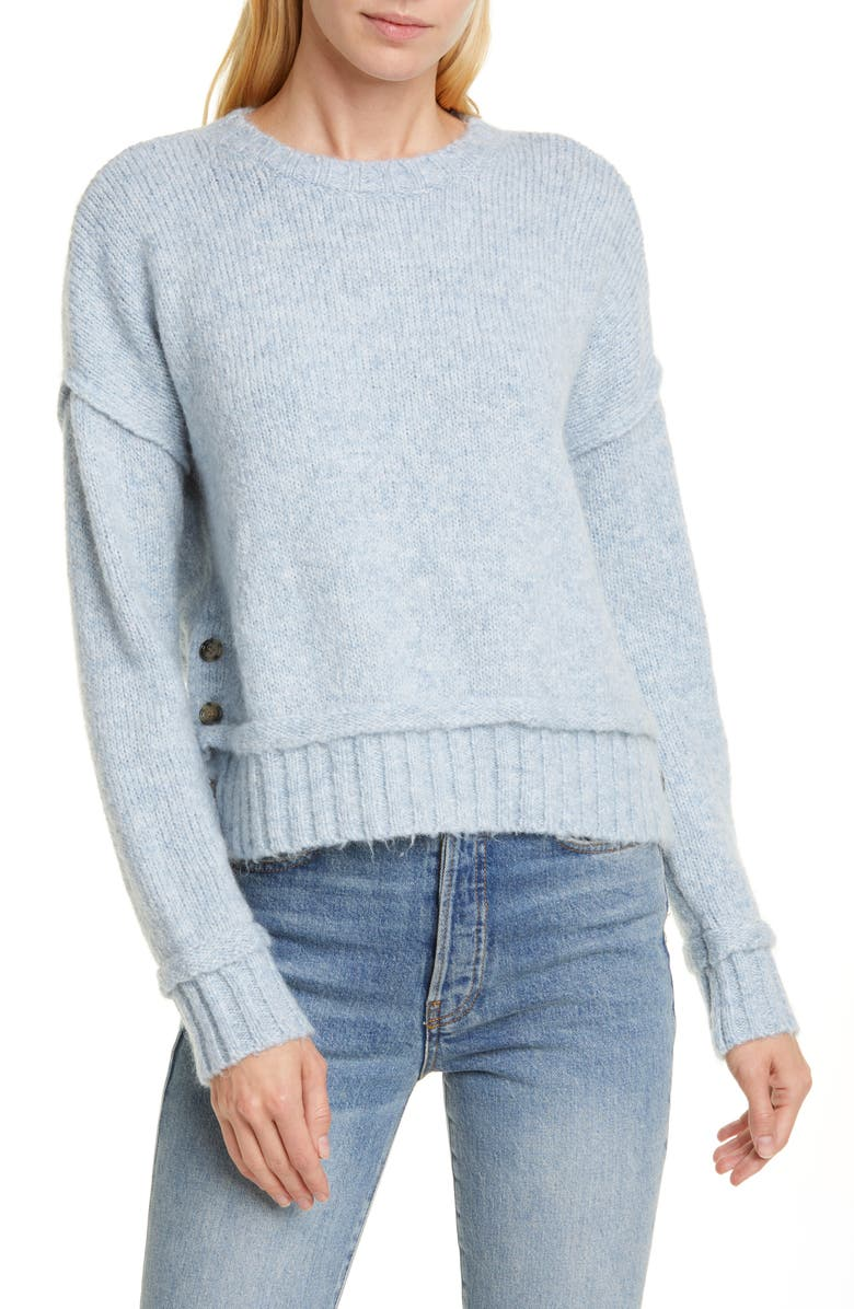 ALLUDE Button Detail Sweater, Main, color, 100