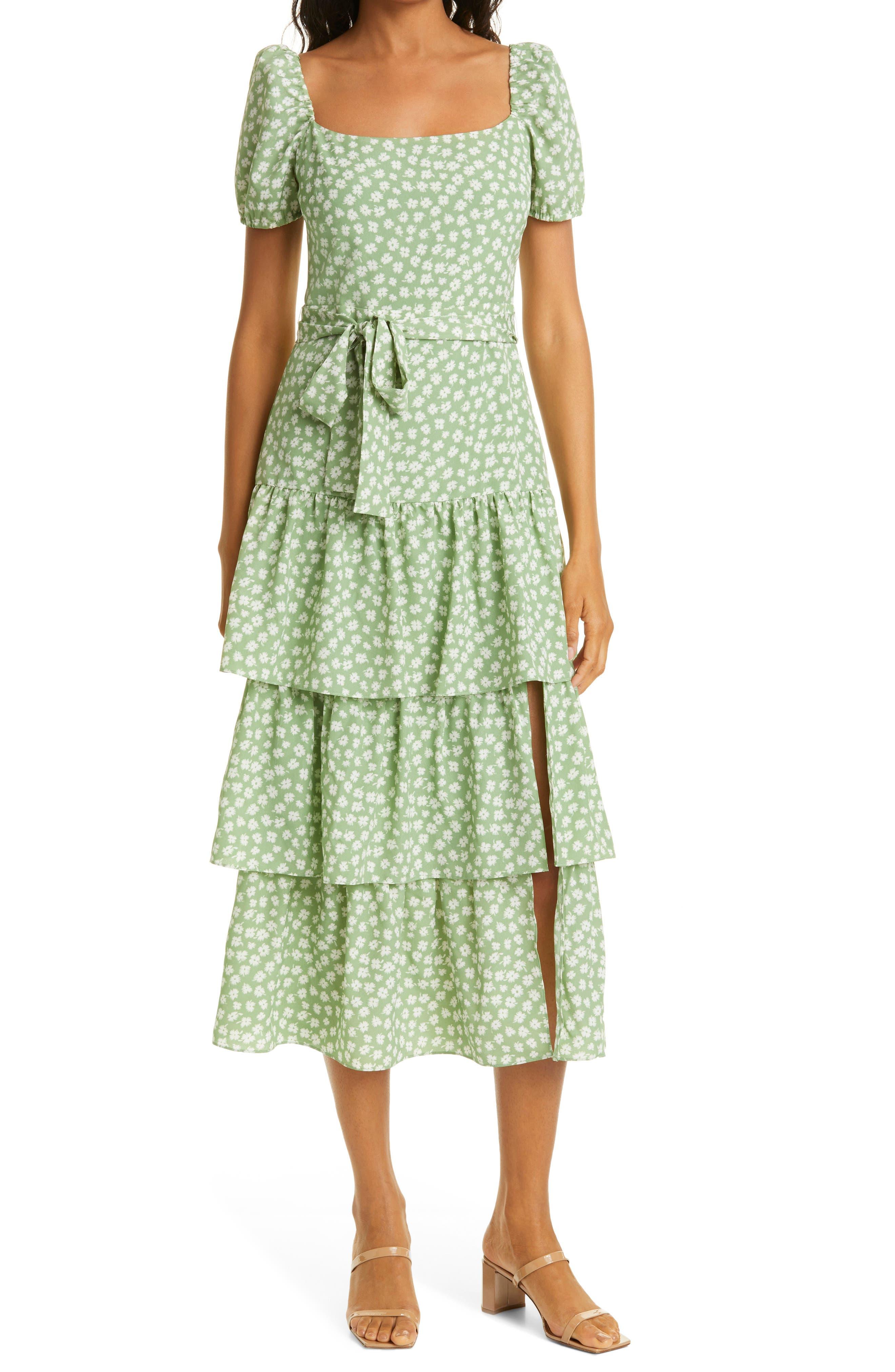 Lottie Tiered Midi Dress