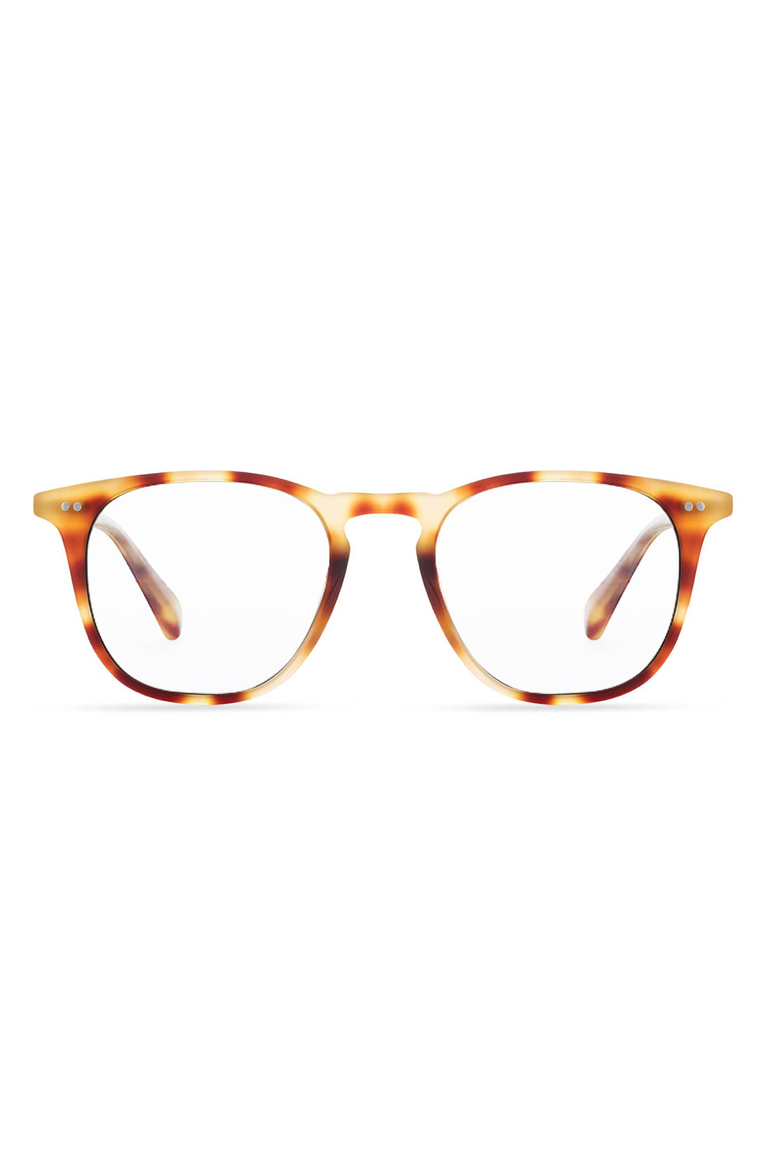 Maxwell 49mm Blue Light Blocking Square Reading Glasses