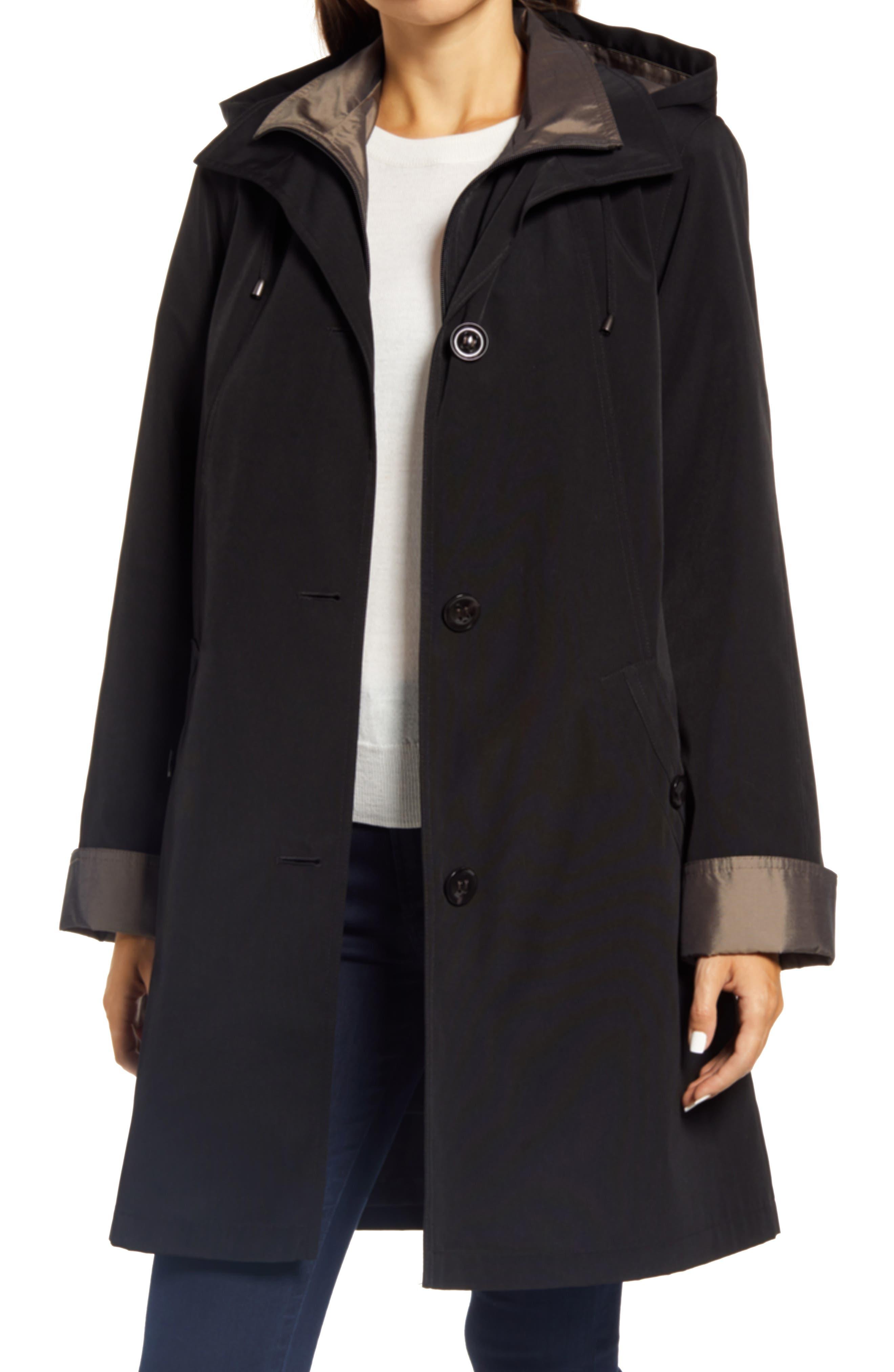 Water Resistant Hooded Rain Jacket