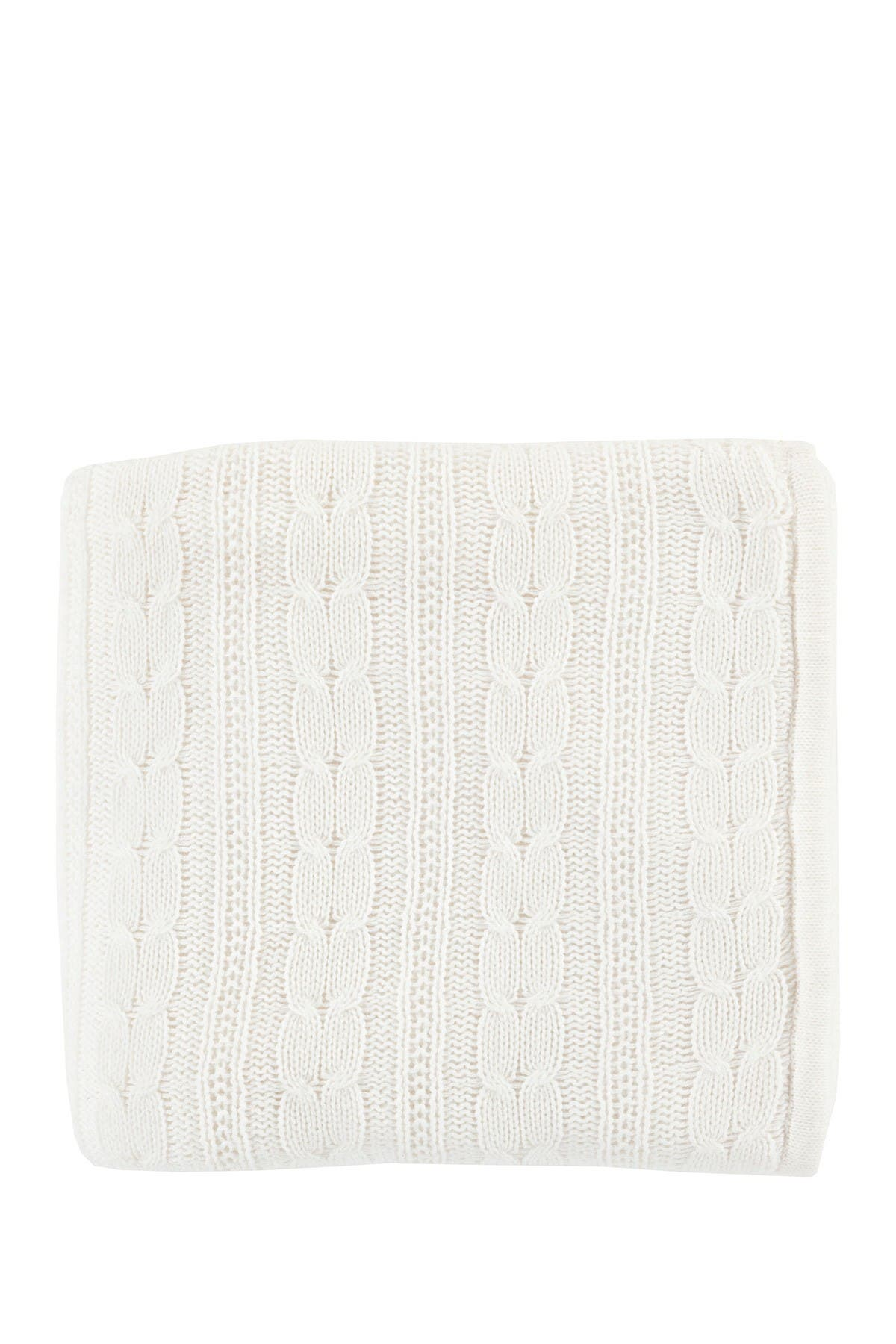 Image of SURYA HOME White Tucker Texture Throw