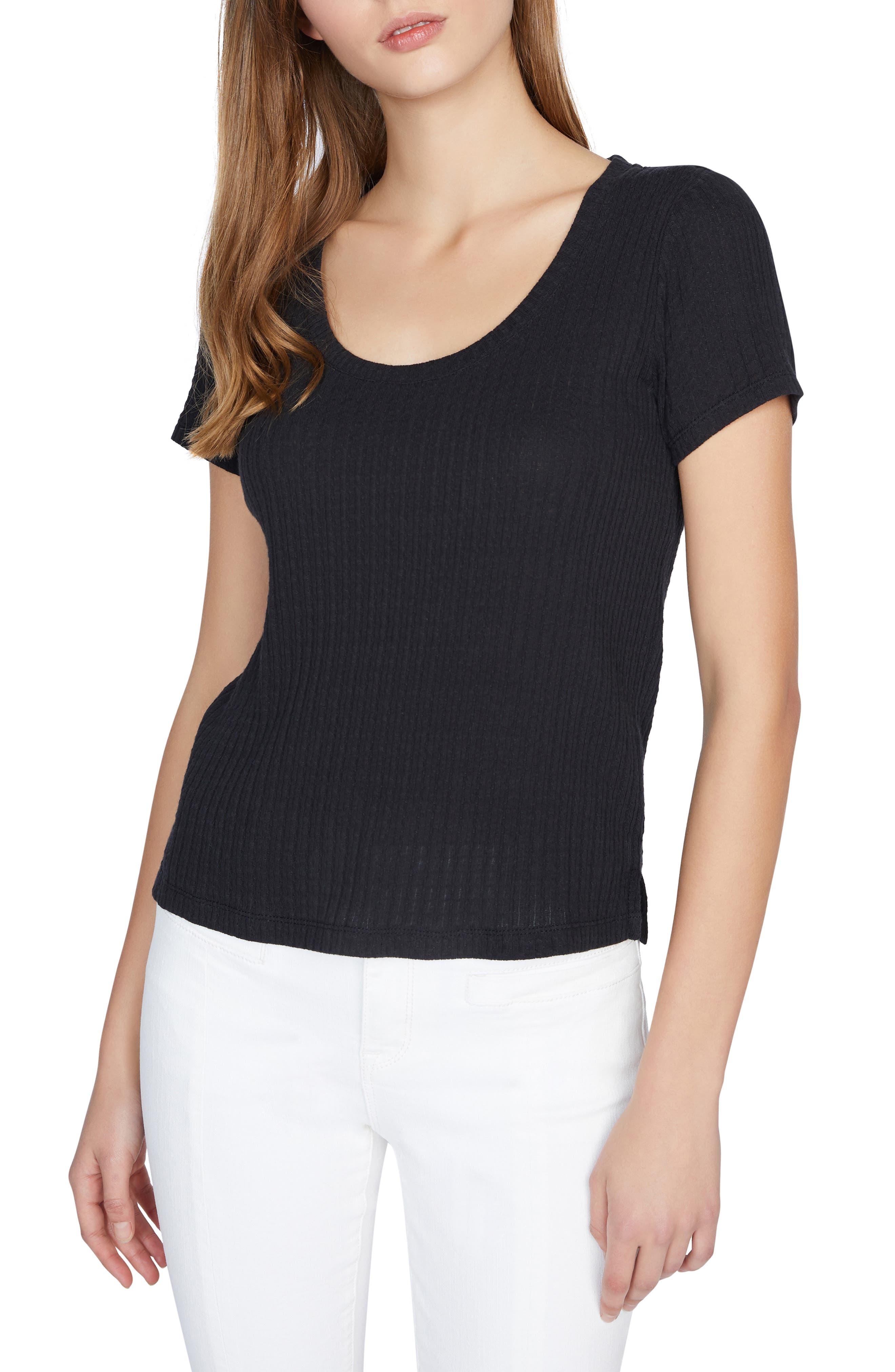 Sanctuary Ruby Ribbed Scoop Neck T-Shirt (Regular & Petite) | Nordstrom