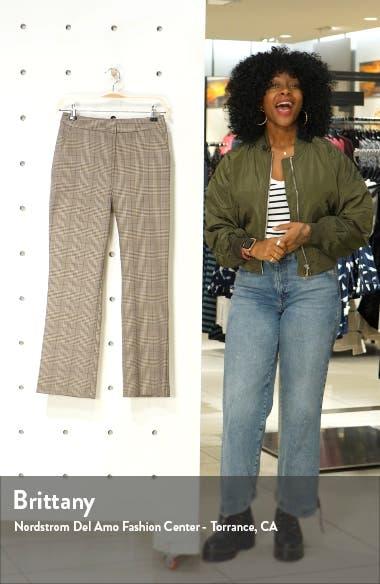 Ella Check Flare Trousers, sales video thumbnail
