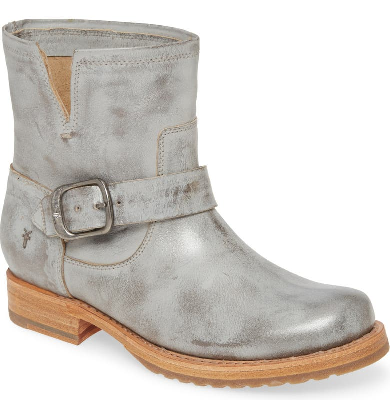 FRYE Veronica Bootie, Main, color, SILVER SKY LEATHER