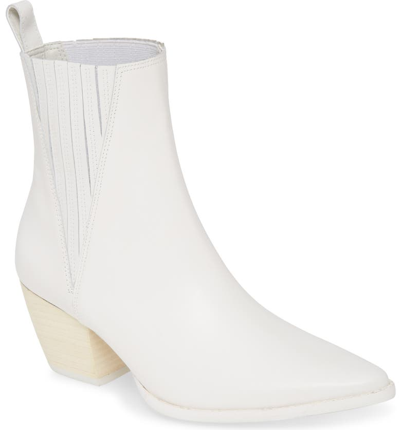 MATISSE Elevation Bootie, Main, color, WHITE LEATHER