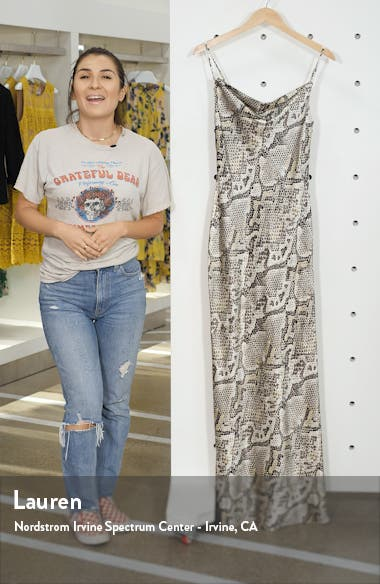 Arianne Snake Print Silk Maxi Dress, sales video thumbnail