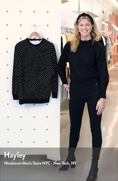 Alex Polka Dot Jacquard Sweater, sales video thumbnail