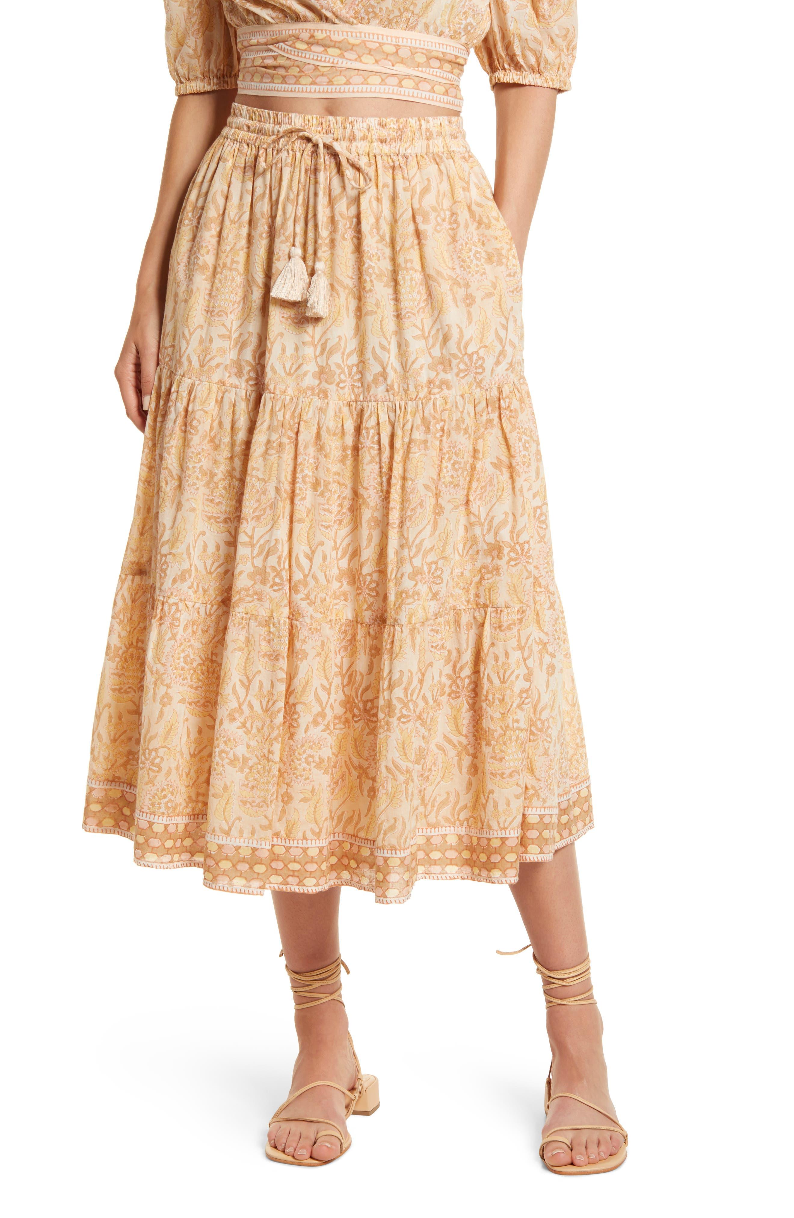 Chelsea Organic Cotton Midi Skirt