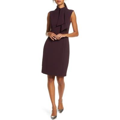Petite Harper Rose Tie Neck Sheath Dress, Purple