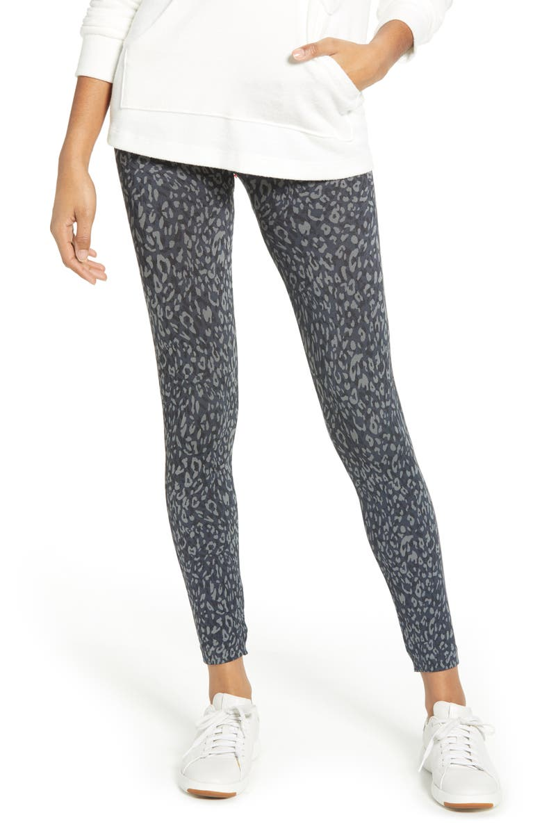SPANX<SUP>®</SUP> Look at Me Now Seamless Leggings, Main, color, INDIGO LEOPARD