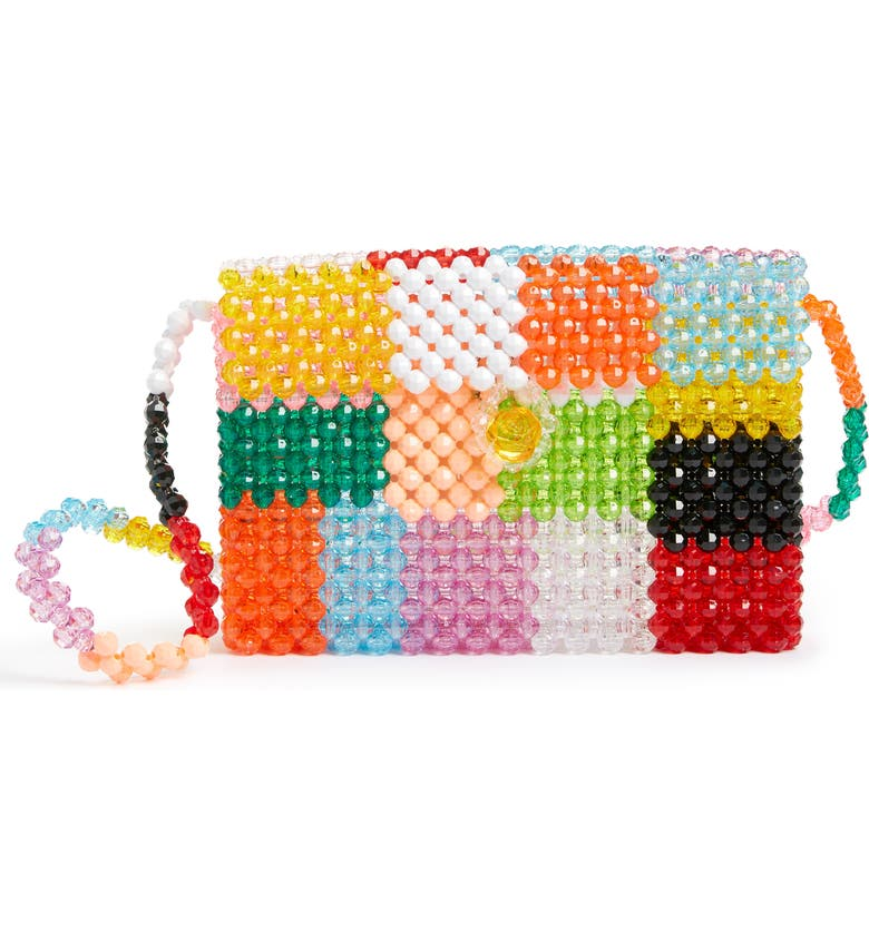 SUSAN ALEXANDRA Ash Beaded Shoulder Bag, Main, color, MULTI