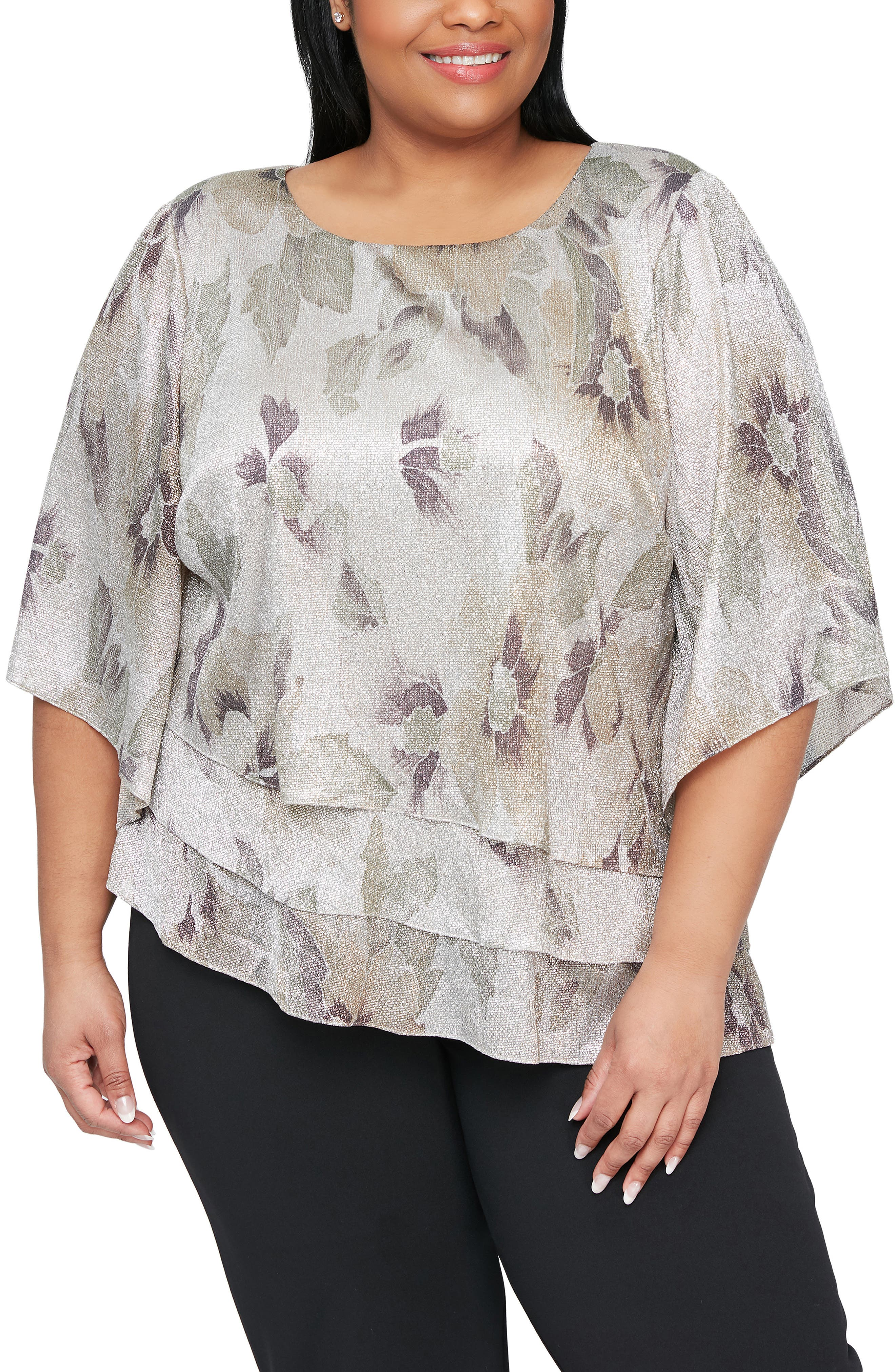 Floral Print Tiered Blouse