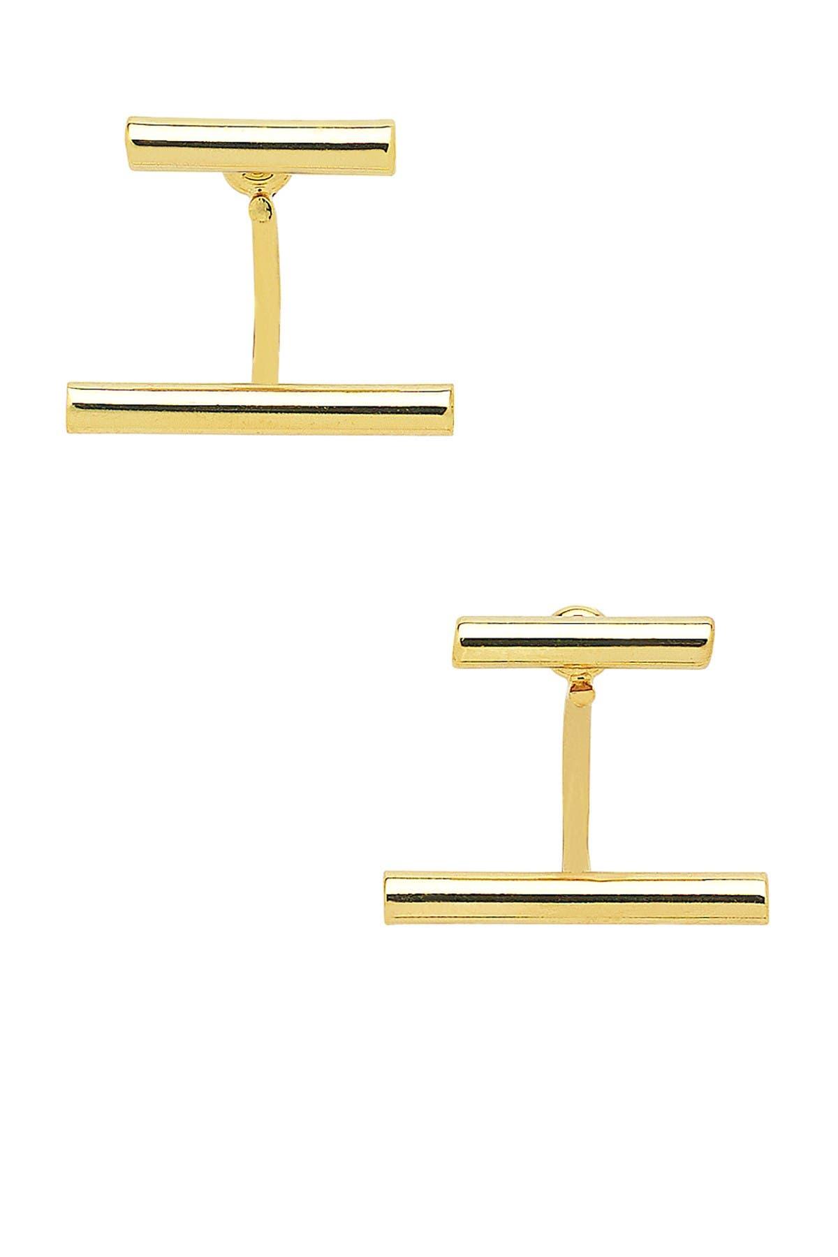 Image of Sterling Forever Parallel Bar Ear Jacket Earrings