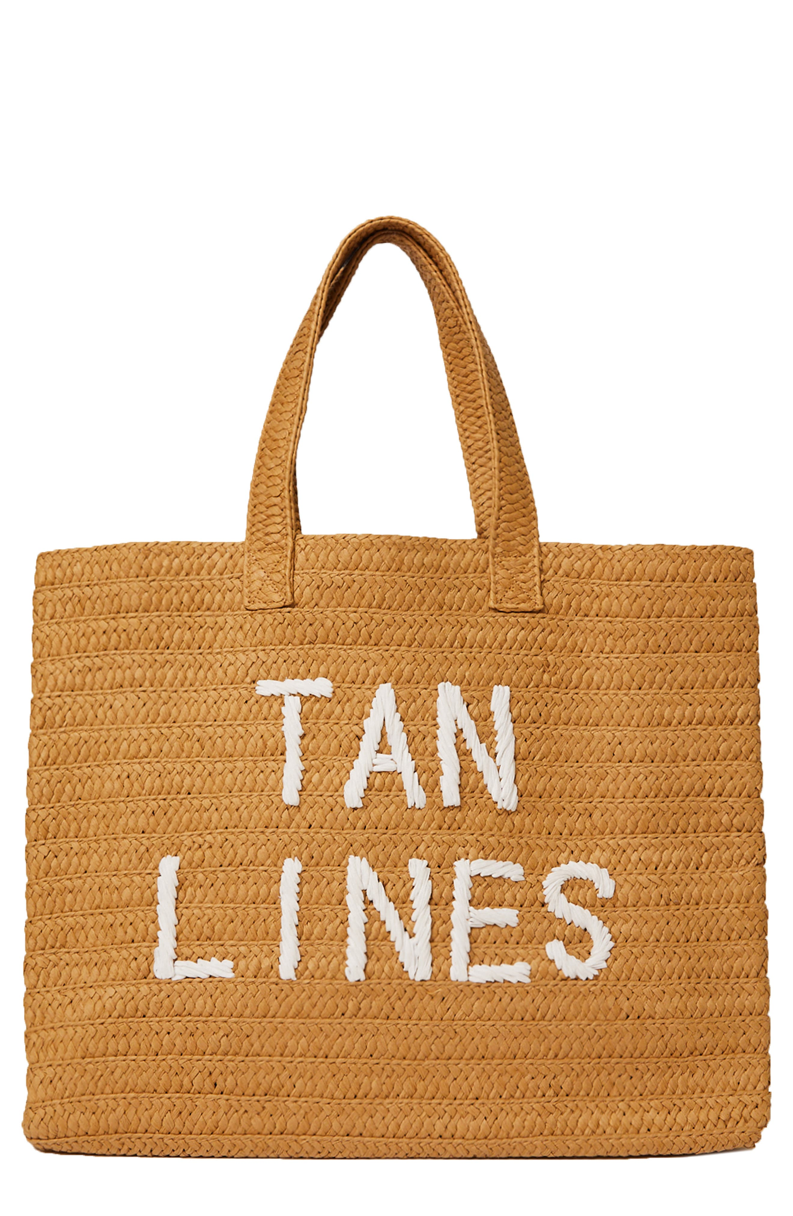 Tan Lines Straw Tote