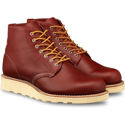 Red Wing 6-Inch Round Toe Boot- Red