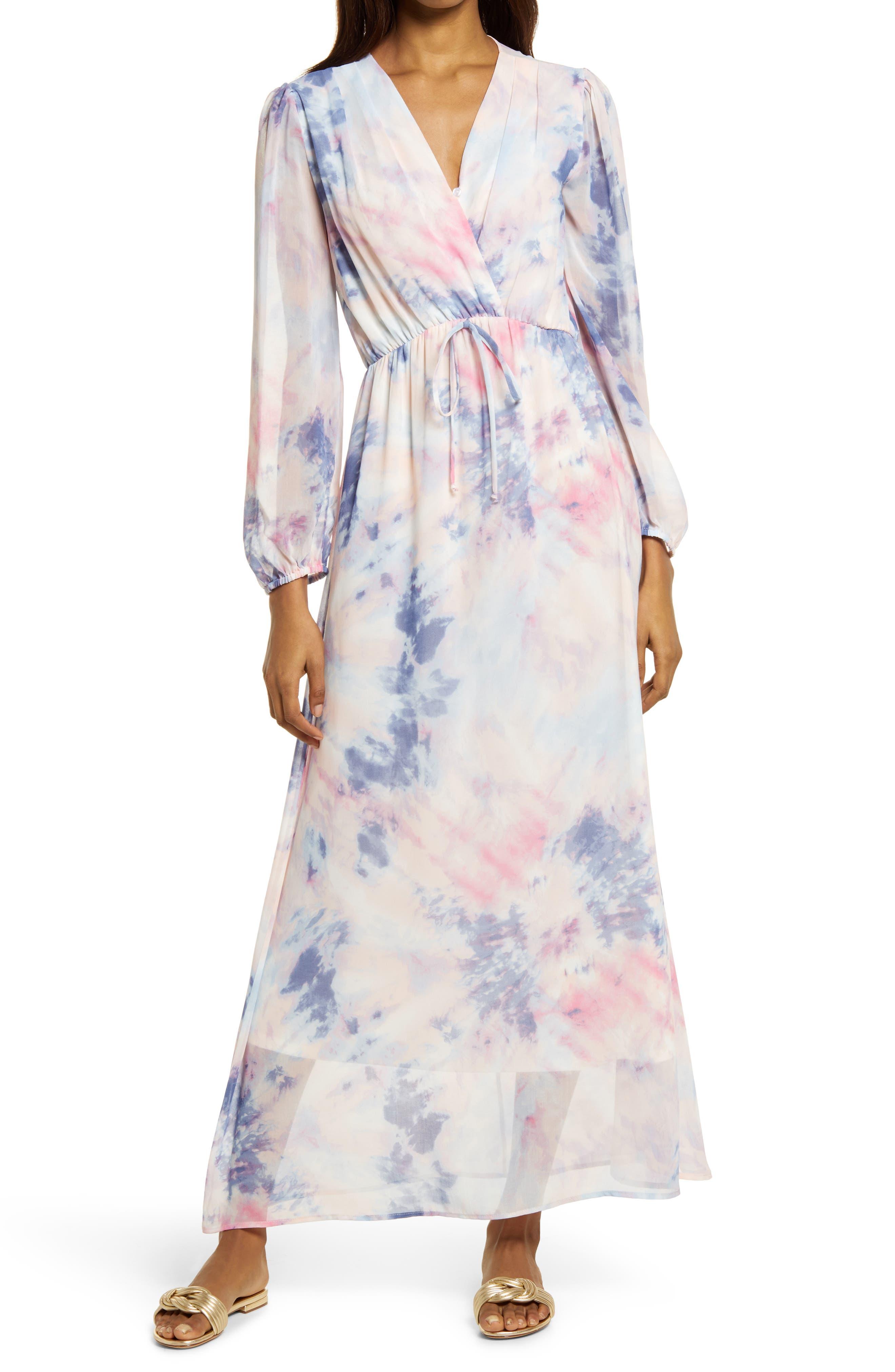 Tie Dye Long Sleeve Dress