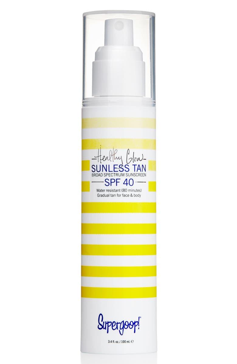 SUPERGOOP!<SUP>®</SUP> Supergoop! Healthy Glow Sunless Tan SPF 40, Main, color, 100
