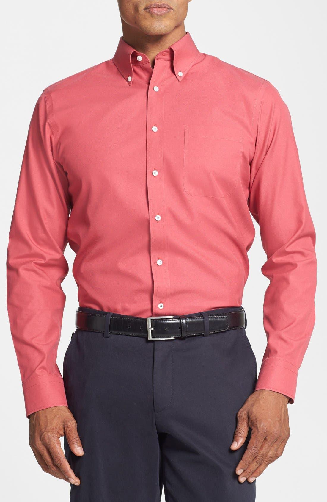 ,                             Smartcare<sup>™</sup> Trim Fit Solid Dress Shirt,                             Main thumbnail 34, color,                             650