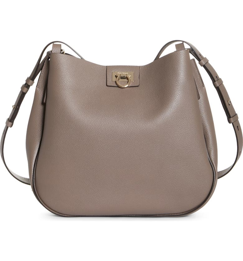 SALVATORE FERRAGAMO Medium Hobo, Main, color, CARAWAYSEED