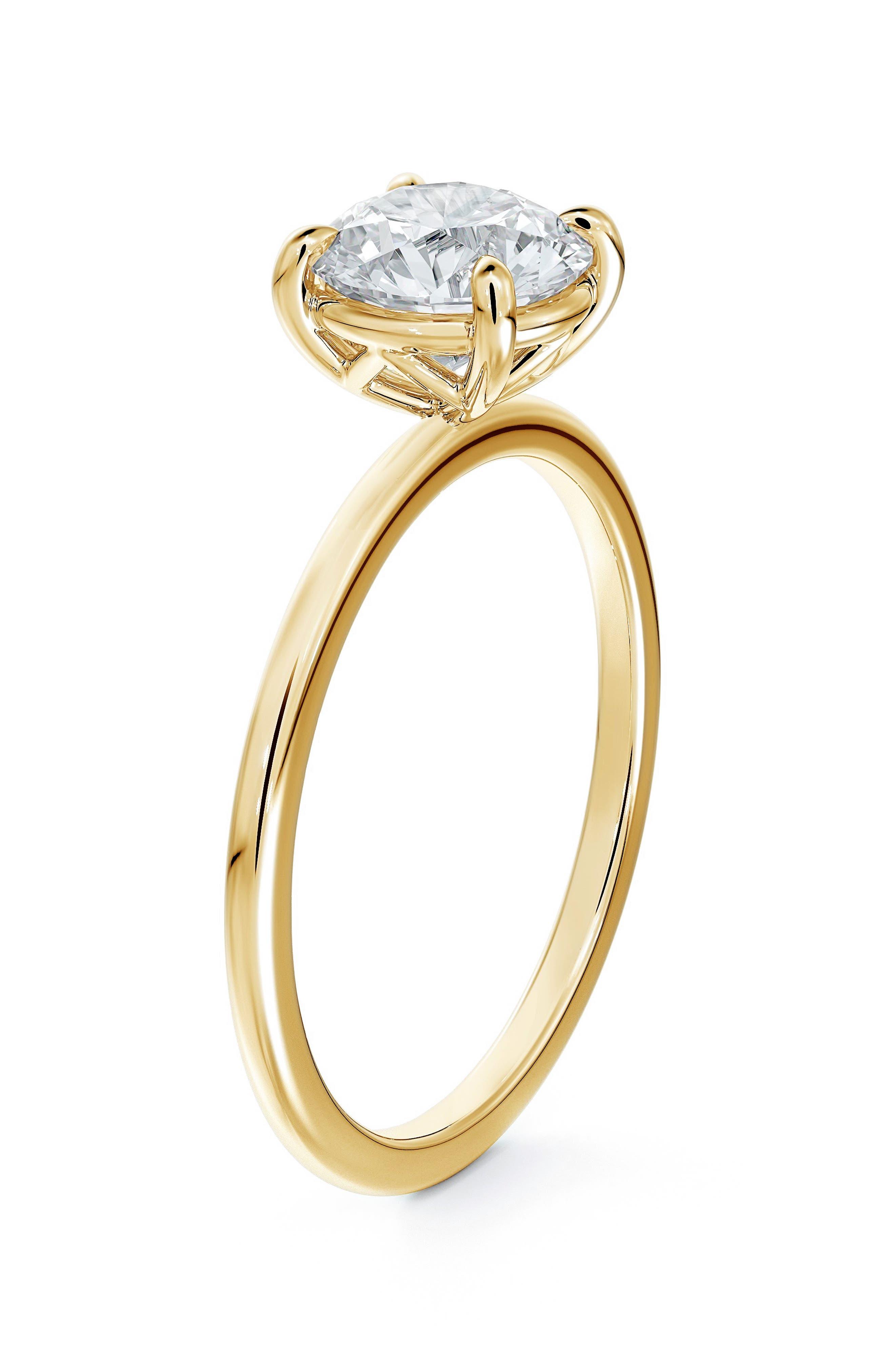 Delicate Icon(TM) Setting Round Diamond Engagement Ring