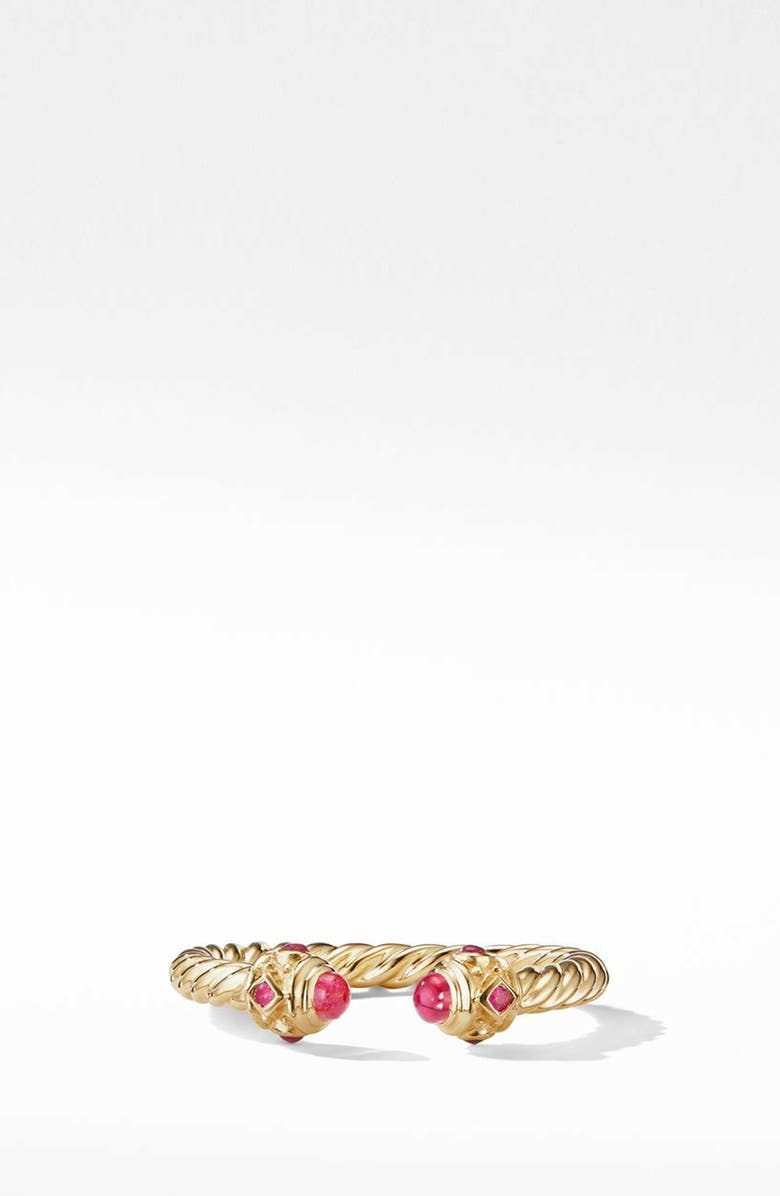 DAVID YURMAN Renaissance Full Pavé Ring in 18K Gold, Main, color, RUBY