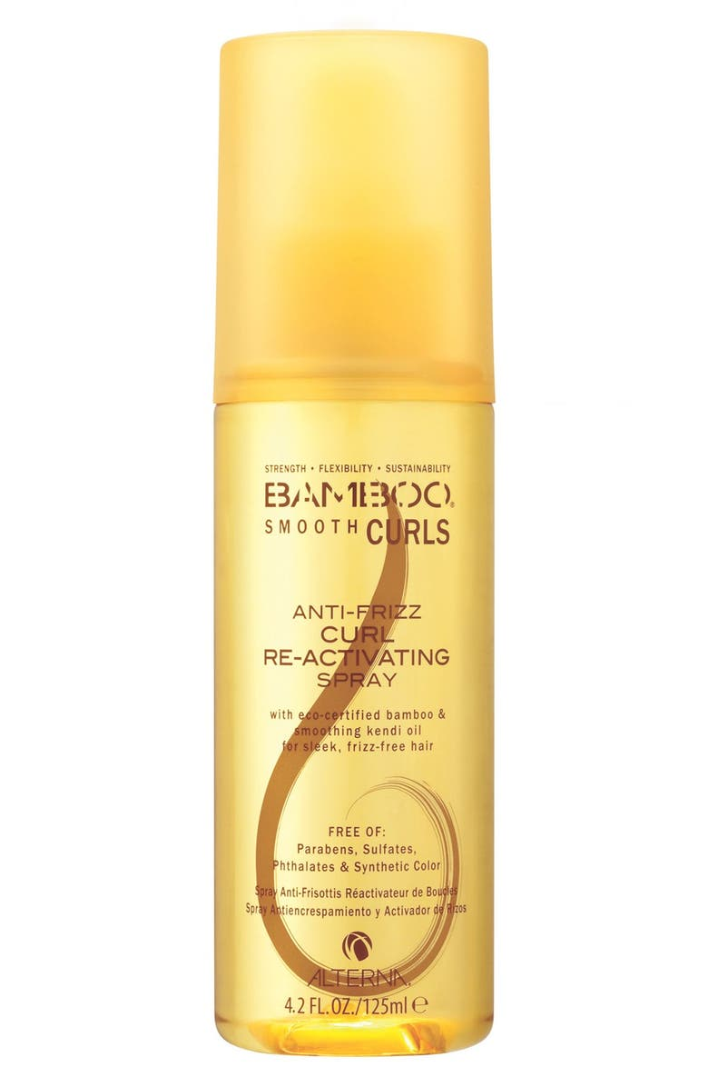 ALTERNA<SUP>®</SUP> 'Bamboo Smooth Curls' Anti-Frizz Curl Re-Activating Spray, Main, color, 000