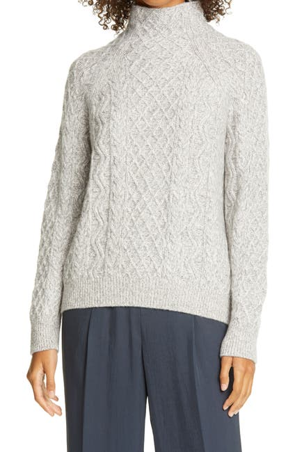 Image of Vince MIXED CABLE TURTLENECK
