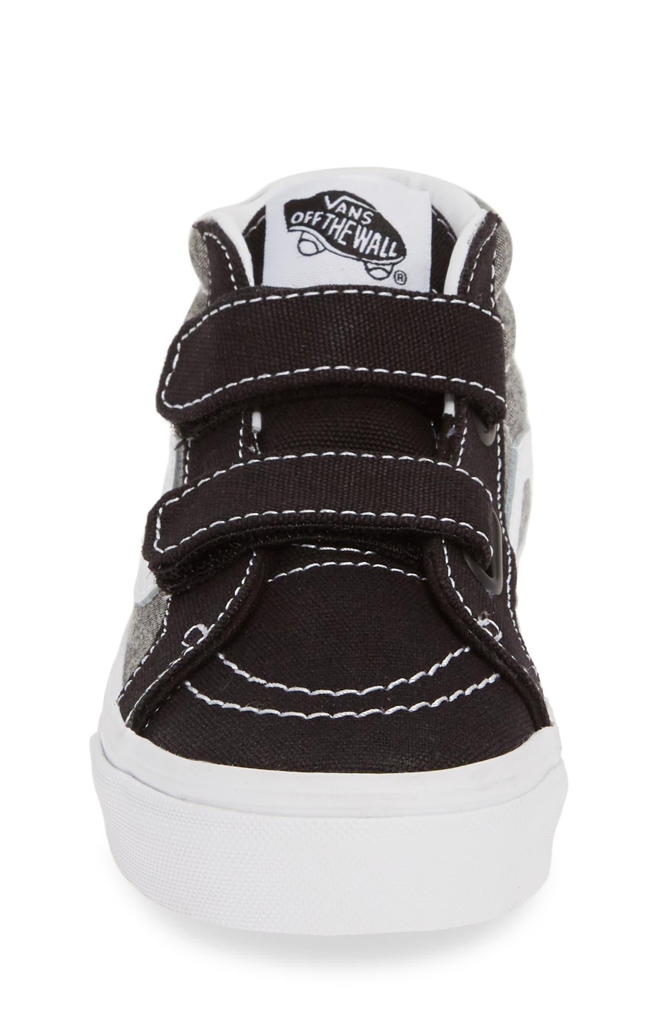 ,                             Sk8-Mid Reissue V Sneaker,                             Alternate thumbnail 4, color,                             CANVAS BLACK/ TRUE WHITE