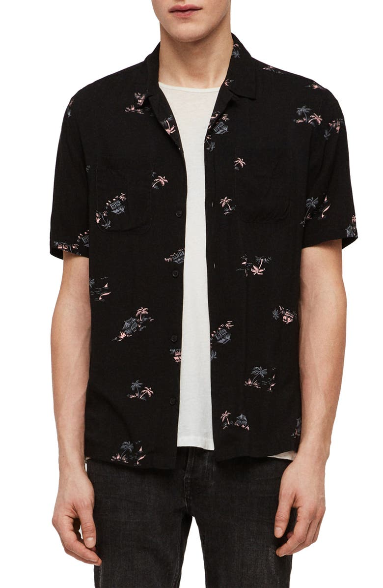 ALLSAINTS Castaway Slim Fit Camp Shirt