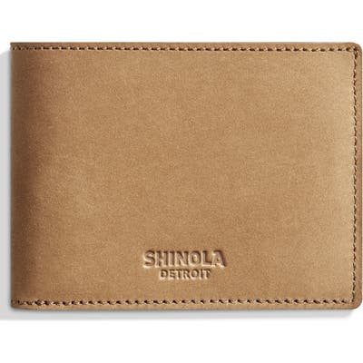 Shinola Outrigger Bifold Leather Wallet - Brown