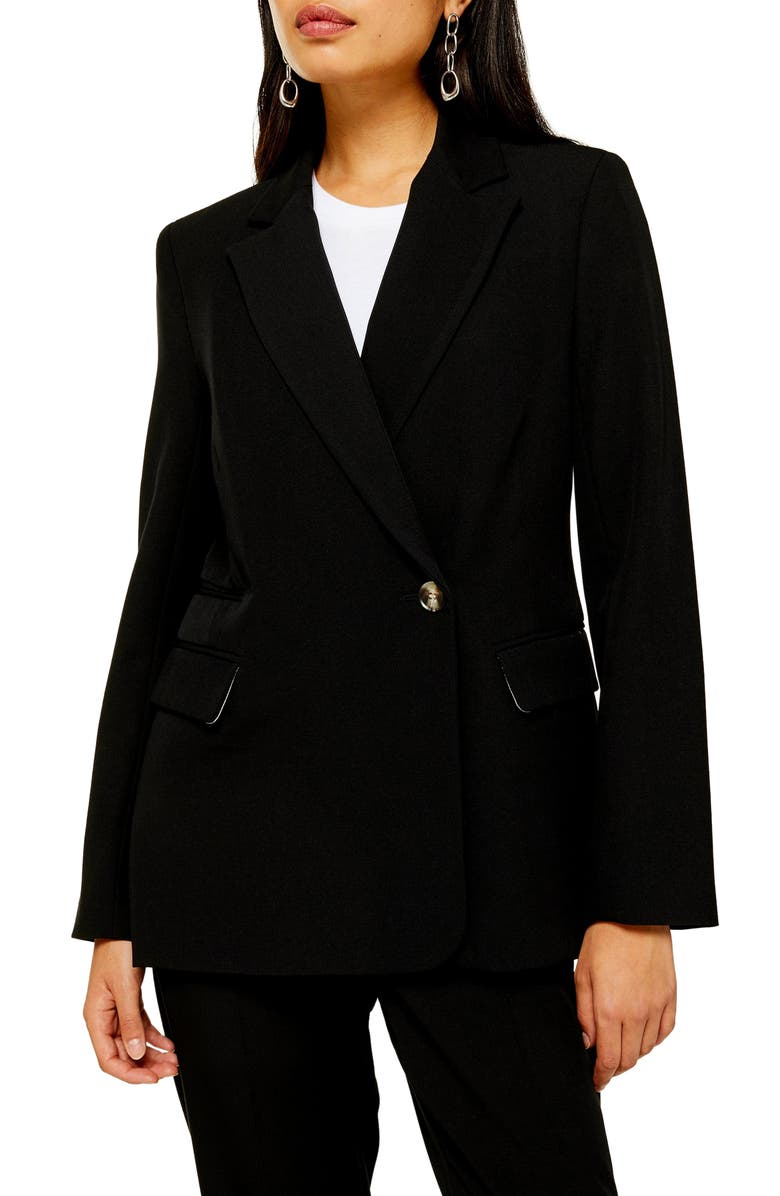 TOPSHOP Remi Suit Blazer, Main, color, BLACK