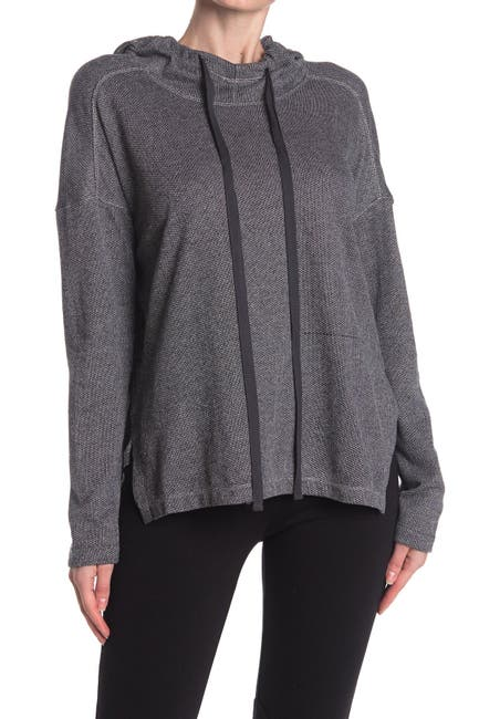 Image of Max Studio Striped Hooded High/Low Tunic